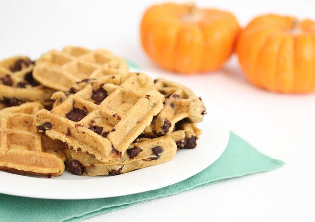 Waffled Pumpkin Chocolate Chip Cookies