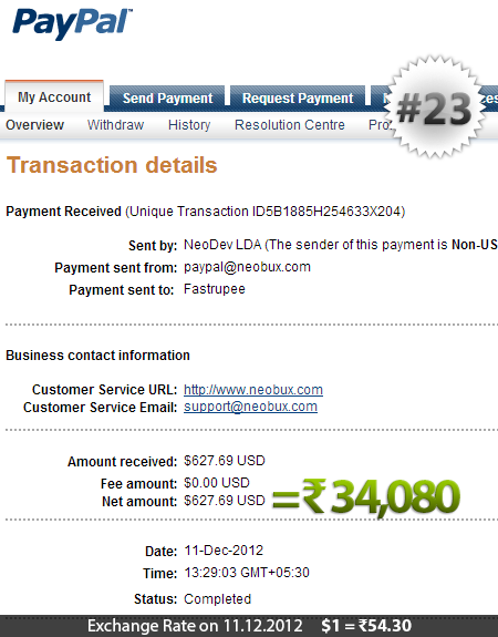 Neobux Payment Proof 23