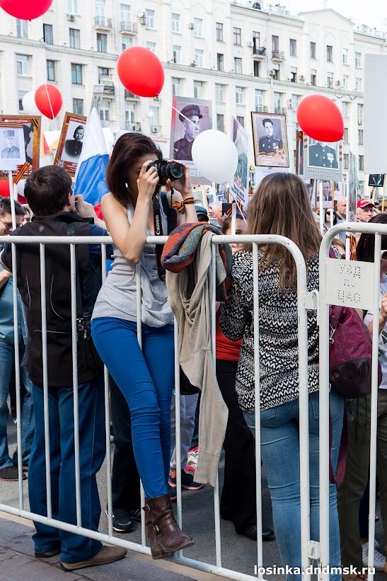 09.05.2016 - Бессмертный полк, Московская городская народная дружина обеспечивала порядок на улицах Столицы