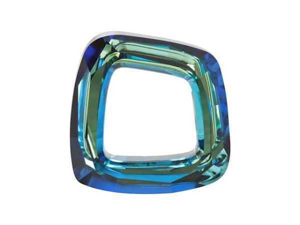 Swarovski Elements Bermuda Blue Cosmic Square
