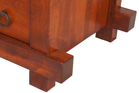 Tansu Dresser in Iconic Maple, Base Detail Closeup