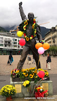 "Freddie Mercury Statue in Montreux during the Memorial Day 2012"" title=""Freddie Mercury Statue in Montreux during the Memorial Day 2012"