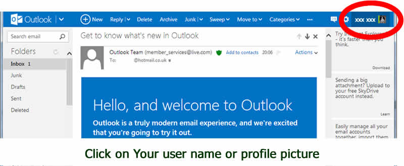 Setting up email account security for Outlook - with dorsetdog.com