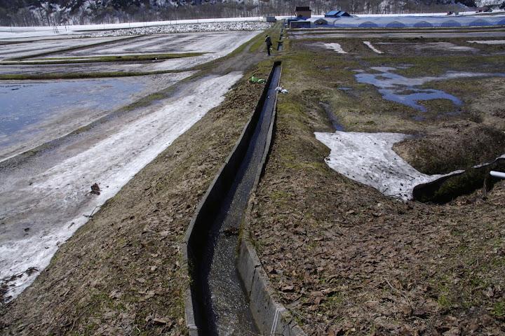 写真:大地の雪解け水