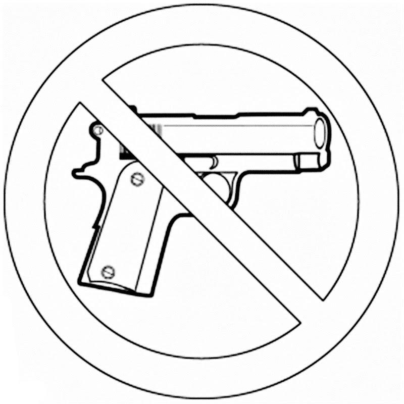 No a las armas para colorear