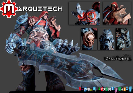 Darksiders Papercraft War
