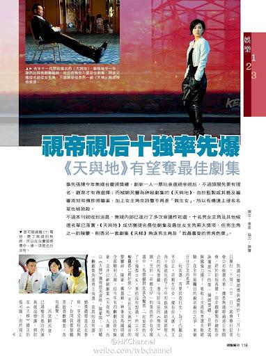 TVB台慶頒獎禮個獎項十強名單