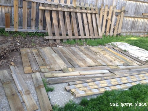recycling used fence boards