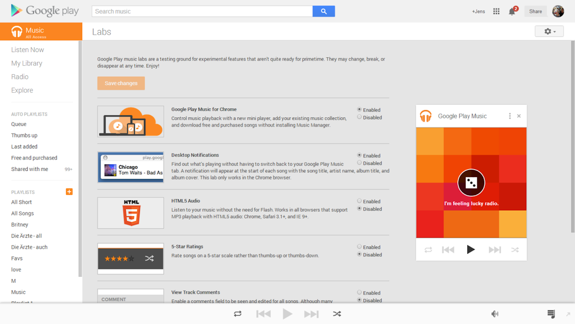 Google Play Music Labs