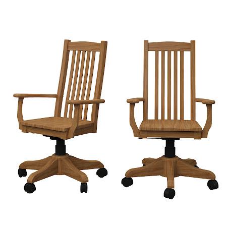 Phoenix Office Chair in Oil & Wax Oak