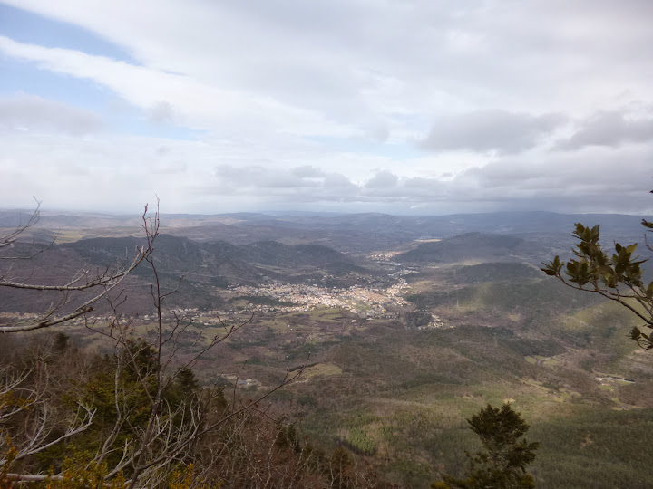 View of Quillan from the top of the ridge