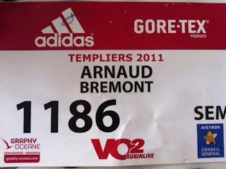 Templiers 2011-Dossard