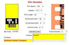 A Kodak Gold II a DXn Simulator oldalán