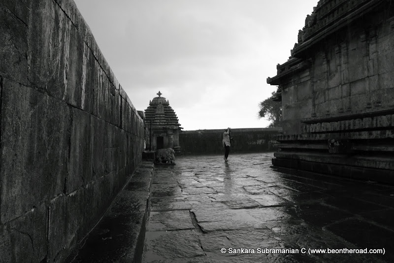 In the rains at Doddagaddavalli temple