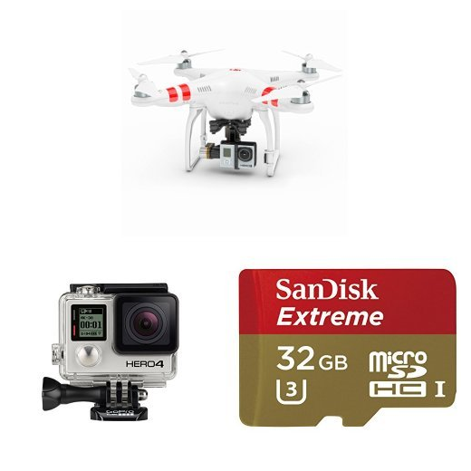 DJI Phantom 2 Quadcopter V2.0 Bundle with 3-Axis Zenmuse H3-3D Gimbal for GoPro - image