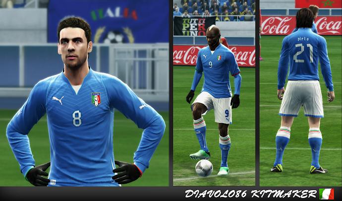 Itália Home Kit 2013-14 - PES 2013