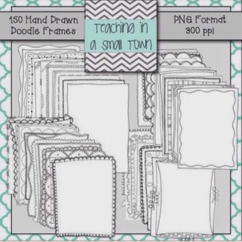 http://www.teacherspayteachers.com/Product/Doodle-Borders-Bundle-150-Frames-for-Commercial-Use-280264
