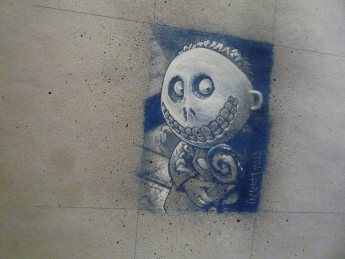 Nightmare before Christmas, Original Art © 2013 Jeff Lafferty