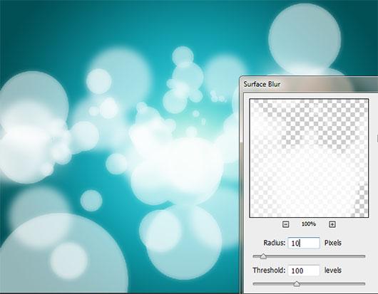 Surface Blur (Radius 10 / Threshold 100)