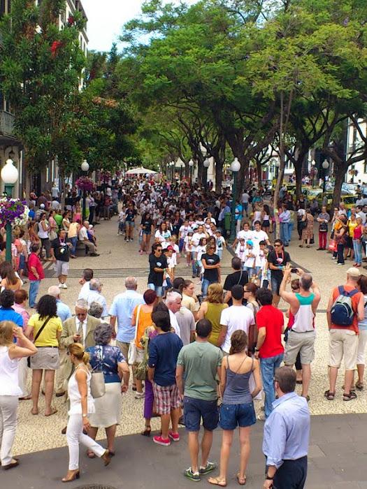 a flashmob near the cathedral