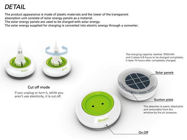 *太陽能充電插座(吸盤式):可直接黏在玻璃上充電! 5