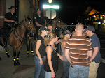 Then we had a mounted escort on the way back...of course they didn't protect us from striped shirt drunk guy