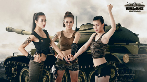 Siêu mẫu Thái Hà gợi cảm trong bộ ảnh World of Tanks 8