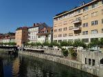 Ljubjana : vue du pont du dragon