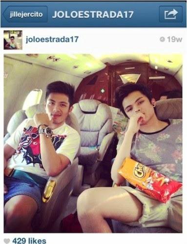jolo_estrada_on_a_private_jet
