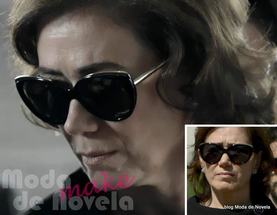 moda da novela Império, os óculos escuros da Maria Marta no enterro do comendador José Alfredo