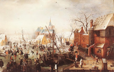 Hendrick Avercamp - Winter Scene at Yselmuiden