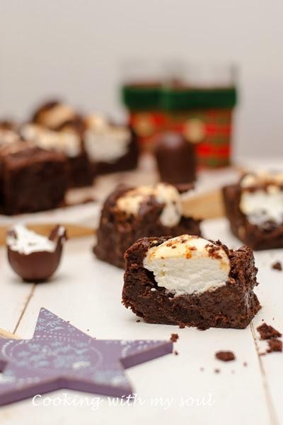 Brownie cu bezele