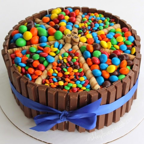 Chocolate Candy Covered Cake Candy Covered Triple Chocolate
