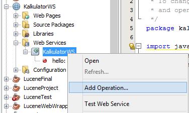 menambahkan operation di web services