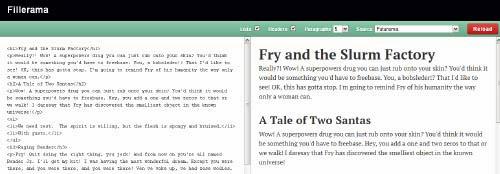Fillerama: A Filler Text Generator