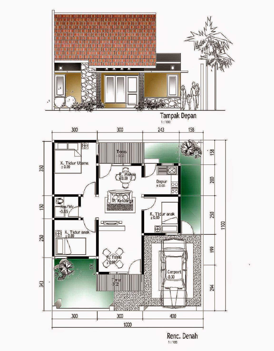 desain rumah dan denahnya gallery taman minimalis