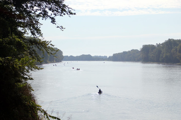 Paddling the Kansas River at Wakarusa Challenge