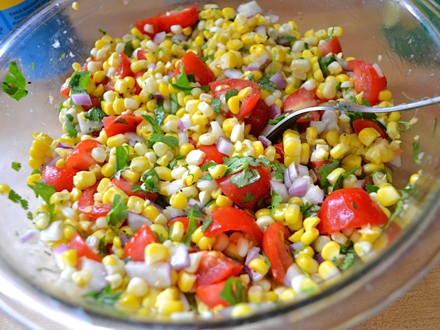 finish roasted corn salad