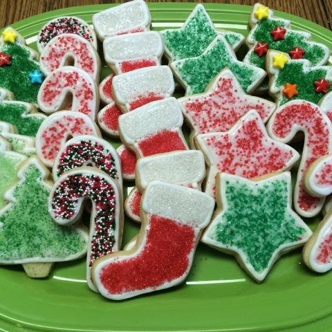 decorated cream cheese sugar cookies