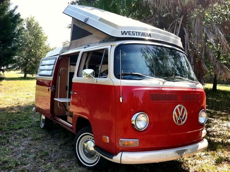 purchase used 70 vw camper westfalia campmobile bus van. Black Bedroom Furniture Sets. Home Design Ideas