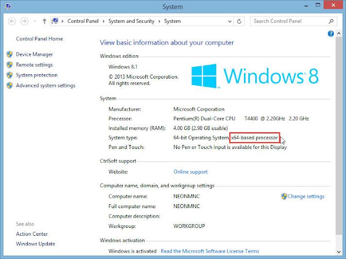 Windows 8.1 System Information