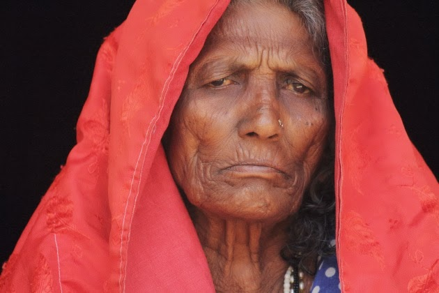 Elderly Lambani Tribal Woman at Dandeli, Karnataka, India