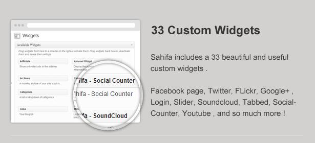Sahifa Custom Widgets