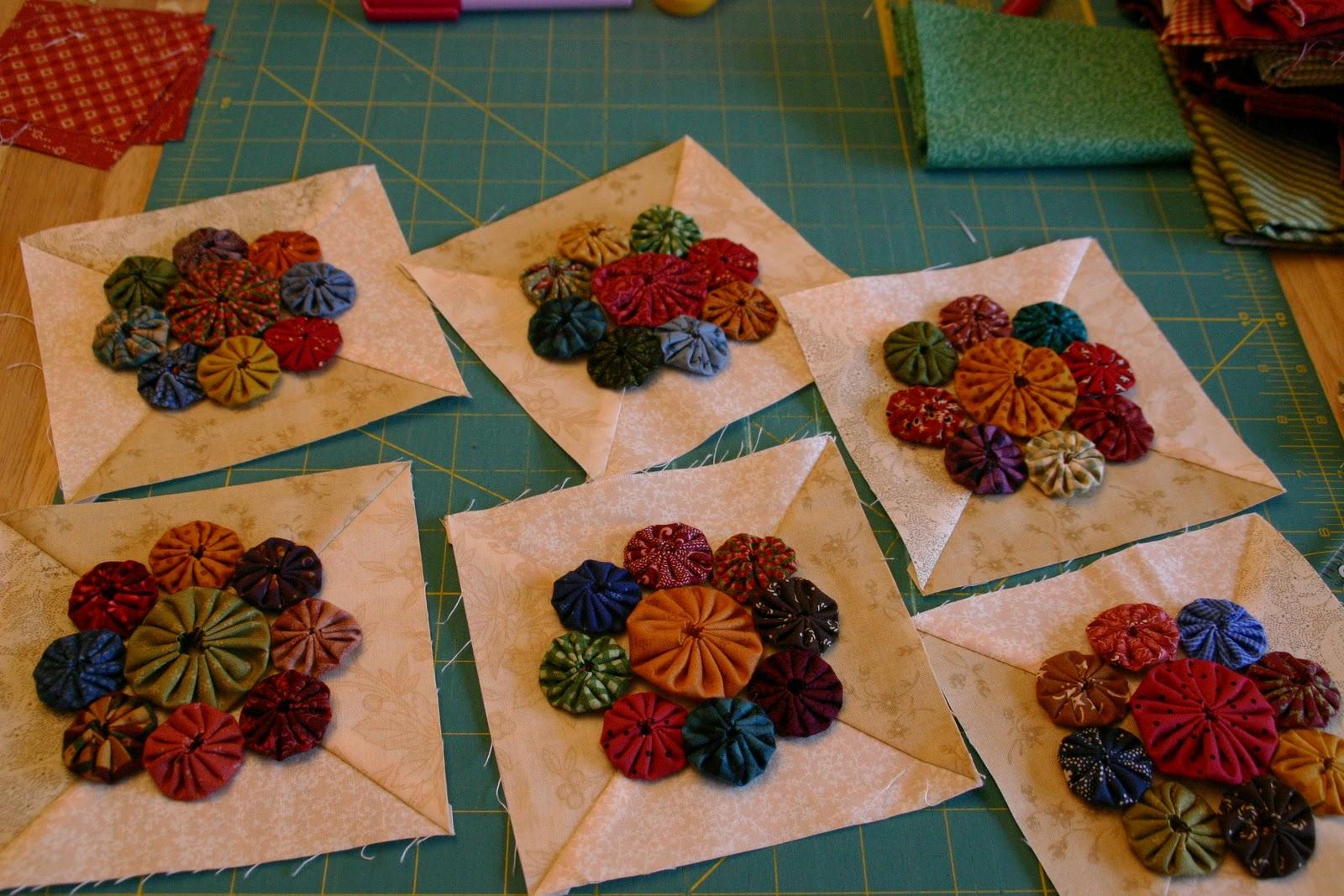 Yo Yo Quilt Pattern Designsyo Yo Flower Garden Quilt Quilting