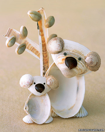 You only need a few common shells to make these adorable guys.