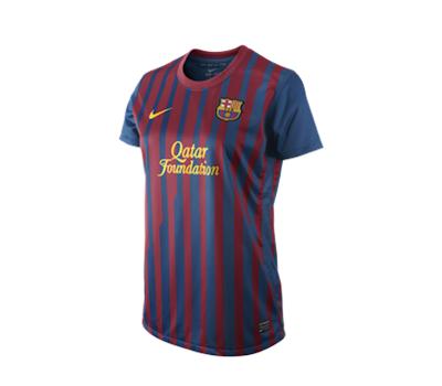 Voetbaltenues en shirts van FC Barcelona