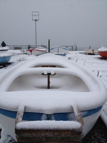 Nevicata 11 febbraio 2013 le barche sotto la neve