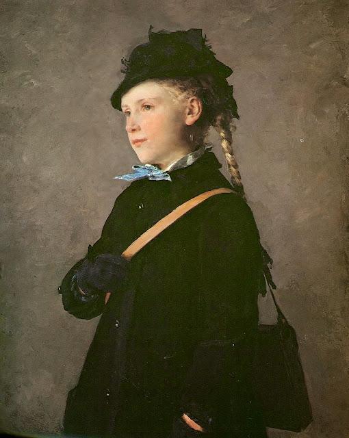 Albert Anker - Marie Anker 1881