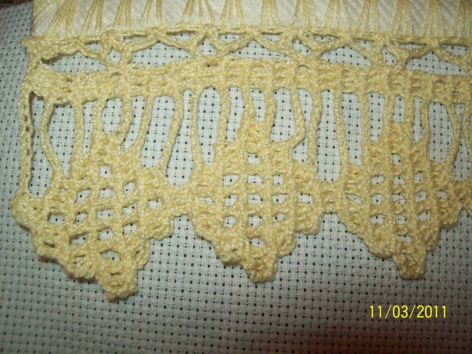Cidda Artes: Bico em crochet!!!!!