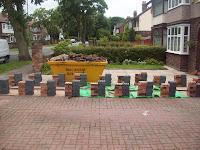 boundary wall demolished